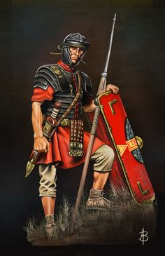 "© Vincent Pompetti from ""the Gallic War"" - ""La Guerre des Gaules"" Roman Warriors, Celtic Warriors, Imperial Legion, Rome History, Les Runes, Roman Armor, Roman Legion, Roman Britain, Greek Warrior"