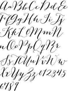13 New Calligraphy Fonts Alphabet Printable Images - Printable Calligraphy Fonts, Free Calligraphy Fonts Letters and Calligraphy Alphabet Font Script Modern Calligraphy Alphabet, Calligraphy Handwriting, Calligraphy Letters, Typography Letters, Penmanship, Caligraphy, Typography Design, Creative Lettering, Lettering Styles