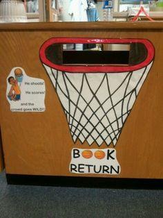 book return box | Sports theme Book return box | Library theme