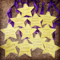 Shining star medals for our Girls on the Run practice 5k