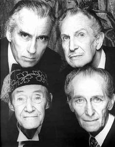 Christopher Lee, Vincent Price, John Carridine and Peter Cushing.
