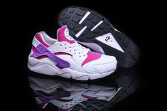 buy popular 5f839 7281a Women Nike Air Huarache White Black Bright Magenta Sneakers Nike, Cheap  Sneakers, Nike Shoes
