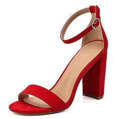 188fe1ab0729 Women s High Chunky Block Heel Pump Dress Sandals Features a classic open- toe design
