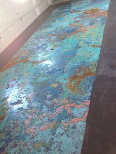 Metal Effects Patina Floor Finish created by Hoity Toity Peacock