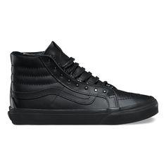 Shop Rivets Slim Shoes today at Vans. The official Vans online store. Black Lace Shoes, Black High Top Shoes, All Black Sneakers, White Shoes, Vans Sk8 Hi Black, Vans Sk8 Hi Slim, Buy Shoes, Vans Shoes, Me Too Shoes