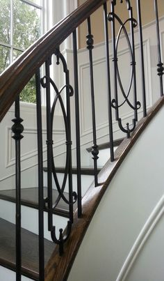 30 Beautiful Metal Stairs Ideas In 2019 Metal Stairs that save time, child maintenance and eliminate custom fabrication. In stock, ready to ship. metal stairs, steps, metal ham it up platforms and portable stairs. Stair Railing Parts, Interior Stair Railing, Wrought Iron Staircase, Wrought Iron Stair Railing, Stair Banister, Stair Railing Design, Iron Balusters, Metal Stairs, Curved Staircase
