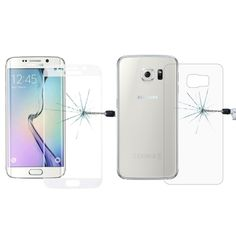 [$5.50] 0.3mm 9H Surface Hardness 3D Curved Surface Full Screen Cover Explosion-proof Tempered Glass Front Film + 2.5D Back Film for Samsung Galaxy S6 Edge+ / G928(Transparent)