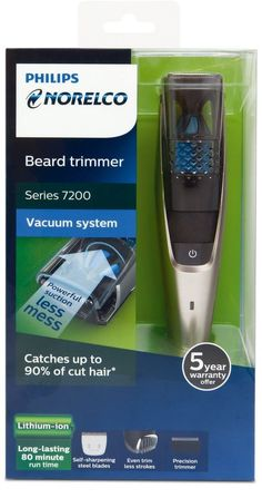 Professional Philips Beard Hair Vacuum Trimmer 20 Length Settings Pro Shaver Set #Philips