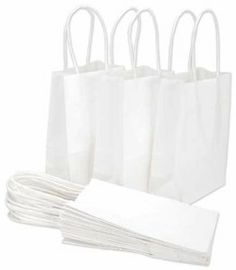 "Baker's Dozen Small Gift Bags 5-1/4""""X3-1/2""""X8-1/4 by DMD. $9.38. Has strong twine handles, offers 13 per pack. Provides the perfect base to accent and decorate. Each measures 5.25 by 3.5 by 8.25 inches. A set of small size paper bags for a variety of uses. Features an assortment of solid colors. PAPER REFLECTIONS-These 13 small paper bags have paper twine handles. Size: 5-1/4Wx3-1/2Dx8-1/4H.  Available in kraft and white."