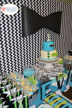 Mustache birthday party dessert table! See more party ideas at CatchMyParty.com!