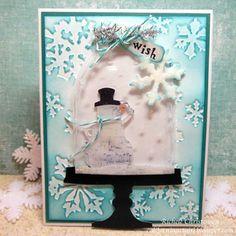 Super Cuteness! Richele Christensen: Snow Globe, Snowman card!