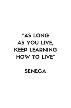 'Stoic Philosophy Quote – Seneca' Art Print by IdeasForArtists Wisdom Quotes, True Quotes, Words Quotes, Quotes To Live By, Funny Quotes, Motivational Quotes, Inspirational Quotes, Daily Quotes, Sayings