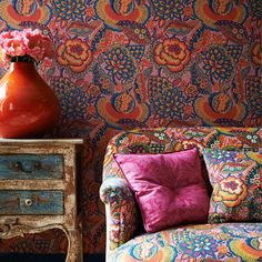 Liberty £69 Patricia sage wallpaper. Find more ideas at Redonline.co.uk.