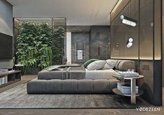 Luxurious Apartment Redefines The Term 'Urban Jungle' - luxuryapartment Luxury Home Decor, Luxury Interior Design, Apartment Interior, Apartment Design, Urban Apartment, Luxury Apartments, Luxury Homes, Men's Bedroom Design, Suites
