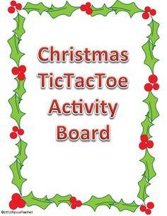 Christmas TicTacToe Choice Board