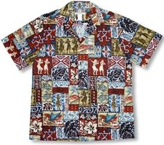 FREE SHIPPING - EVERY ORDER, EVERY DAY!  Kalaheo - Hula Girl Aloha Shirt with Hono Turtles & Outriggers. Coconut shell buttons and matching print engineered chest pocket. MADE IN HAWAII  55% Cotton / 45% Polyester  Peached Fabric  RJC Brand - Kalaheo Label  This shirt's fabric combination is an easy care, no ironing Peached fabric that softens with washing.