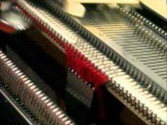 Zopfmuster mit der Strickmaschine - YouTube
