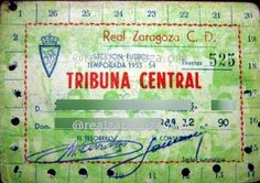 Abono Real Zaragoza 1953-1954