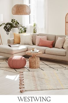 Beige Sofa Living Room, Living Room Decor, Happy House, Ergonomic Chair, Small Space Living, Sofa Pillows, Home And Living, Sweet Home, Home Accessories