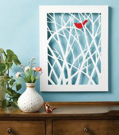 16 Trendy Ideas For Red Bird Painting Canvases Wall Decor Canvas Art Projects, Diy Canvas Art, Canvas Crafts, Bird Canvas, Canvas Wall Decor, Diy Wall Art, Diy Art, Canvas Walls, Cut Out Canvas