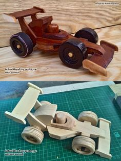 Prototype sample of Racing car powered by Rubberband