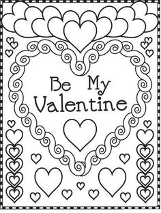 879 Best COLORING: VALENTINE\'s Day/ Hearts images in 2019 | Coloring ...