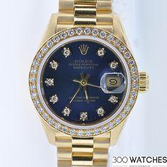 Rolex Datejust Diamonds 18k Yellow Gold | discount luxury watches | 300watches
