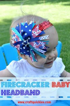 Firecracker Baby Headband from Craft Quickies