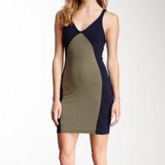 David Lerner Miracle Dress Olive and navy miracle dress. David Lerner Dresses