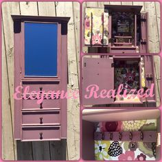 Refurbished jewelry box, sanded, reupholstered, and painted to give a fresh new look. Jewelry Box, Neon Signs, Fresh, Diy, Painting, Jewellery Box, Jewelry Storage, Bricolage, Painting Art