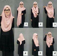 Tutorial Hijab Terbaru, Tudung Shawl, Street Hijab Fashion, Modern Hijab Fashion, Square Hijab Tutorial, Hijab Style Tutorial, Scarf Tutorial, Simple Hijab Tutorial, How To Wear Scarves