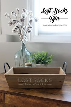 DIY Lost Sock Bin with the Cricut Maker