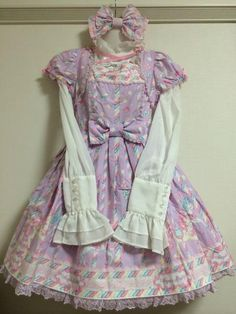 Angelic Pretty Sugary Carnival OP in lavender, front