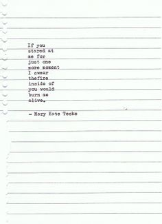 Typewriter poem #58 | Mary Kate Teske