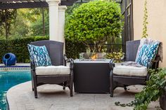 Improve your backyard with a beautiful outdoor fireplace. Find the best one for your outdoor space.
