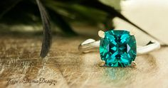Nature Inspired Engagement Rings by Ken and Dana Design
