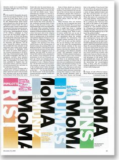 the world's largest independent design consultancy Typography Letters, Lettering, Museum Branding, Paula Scher, Brand Guidelines, Design Museum, Museum Of Modern Art, Ad Design, Moma