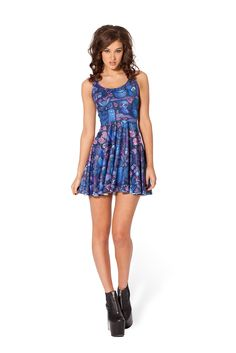 Midnight Owl Skater Dress - WKNDER by Black Milk Clothing ($85AUD)  SIZE S.