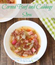 Paleo Corned Beef and Cabbage Stew (radishes are a brilliant substitute for potatoes!)