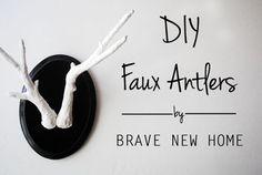 1 - DIY Faux Antlers