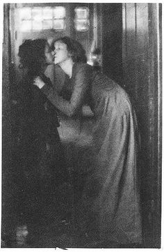 The Kiss, 1904 - by Clarence H. White.
