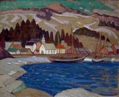 Albert H. Robinson - Winter Baie St. Paul 27 x 33 Oil on canvas (1927)