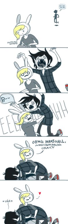 Don't ever scare fionna , cuz she'll punch you!! Advenutre time Fionna and marshal lee