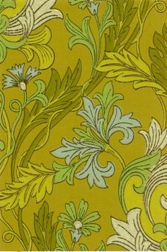 Art Nouveau wallpaper in William Morris style