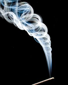 try capturing smoke, in this case incense...