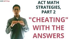 """Best ACT Math Prep Strategies, Tips, and Tricks - """"Cheating"""" Using the Answer Choices Elementary School Counseling, Homeschool High School, Homeschooling, Elementary Schools, Star Mobile, Sat Tips, Act Test Prep, Act Math, Math Talk"""