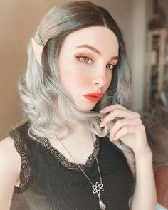 All Synthetic Wigs - EvaHair Synthetic Lace Front Wigs, Synthetic Wigs, Silver Wigs, Eva Hair, Doll Makeup, Grey Ombre, Dark Roots, Haircolor, Girls
