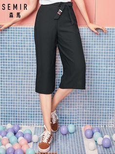 3bb46ca67 SEMIR de las nuevas mujeres pantalones 2019 verano de las mujeres de  cintura alta pantalones de