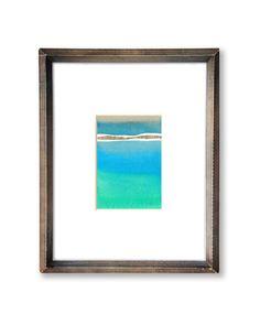 Original Modern Minimalist Shapes 5 x 7 Watercolor Painting - Statementgoods.com