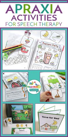 Childhood Apraxia of Speech Activities Extra Value Bundle contains ALL of the Apraxia of Speech resources available in my store! Articulation Therapy, Articulation Activities, Speech Therapy Activities, Speech Language Pathology, Language Activities, Speech And Language, Toddler Activities, Toddler Speech, Childhood Apraxia Of Speech